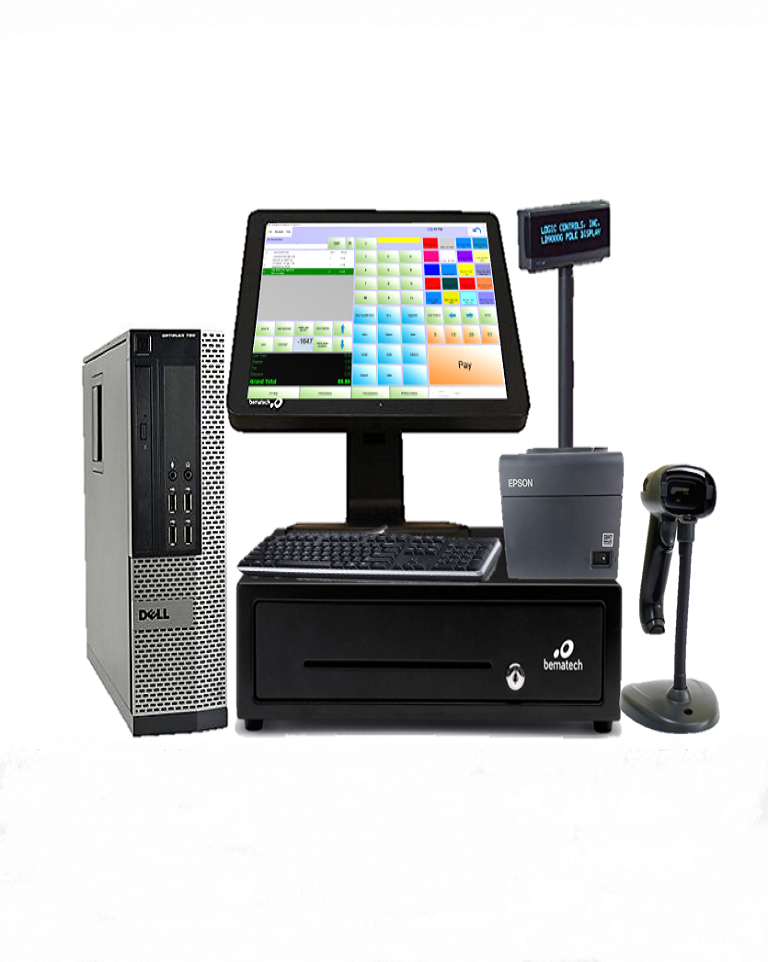 Dell POS Touchscreen Retail Point of Sale System POS System I3//4GB RAM