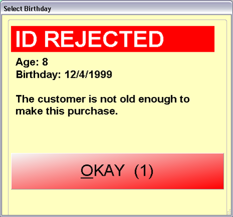 ID Rejected