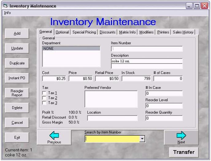 Touchscreen Invoicing